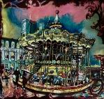 Carrousel dans la pluie de Paris